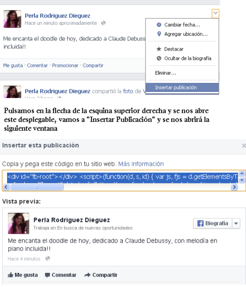 "Como ""embeber"" un mensaje desde Facebook a tu blog"