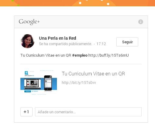 Embeber google+ a tu blog en un widget