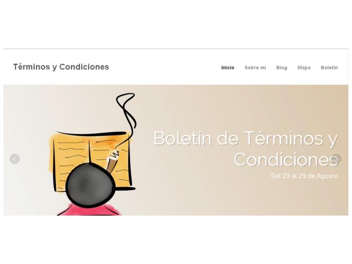web de Términos y Condiciones