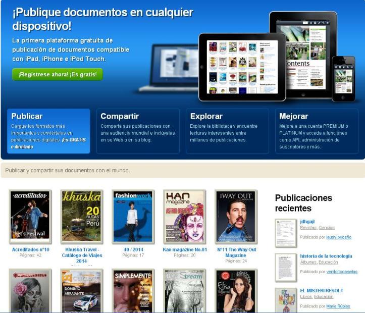 calameo puedes crear revistas online gratis