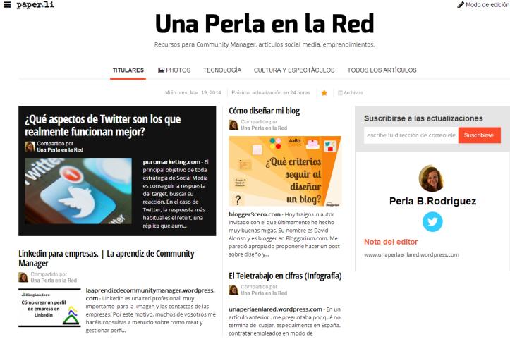 Paper.li Una Perla en la Red