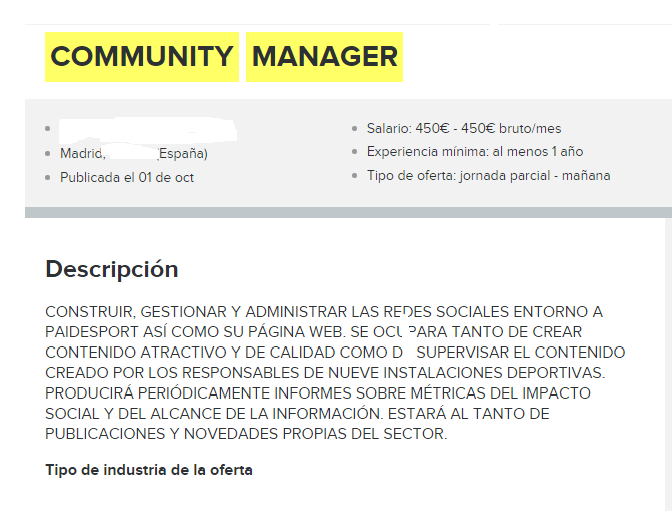 community infojobs madrid