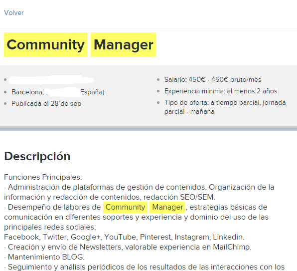 community infojobs paid