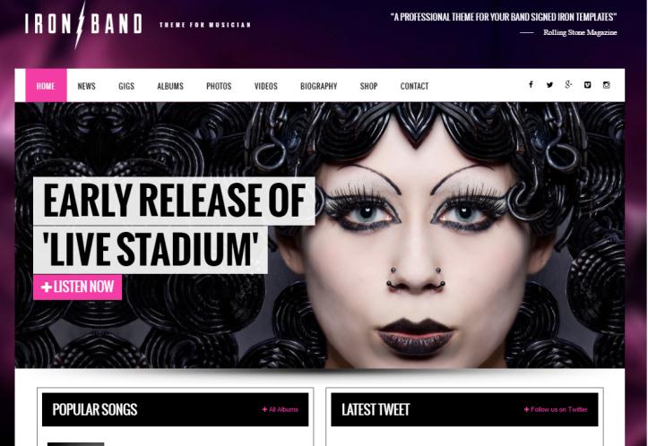 WordPress-Theme-IrondBand