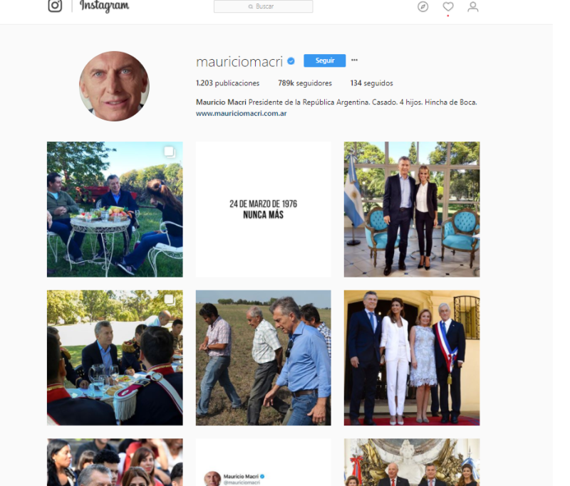 Instagram Macri