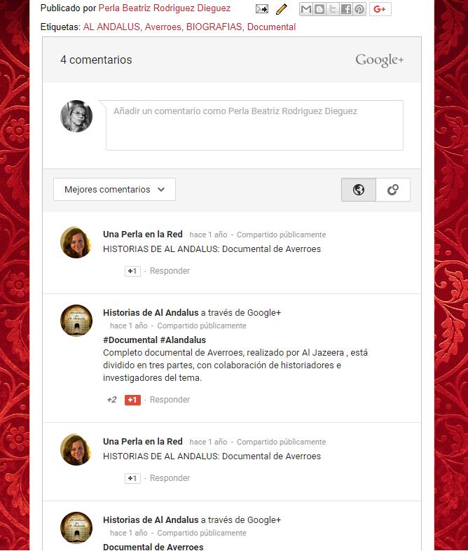 comentarios blogspot desde Google +