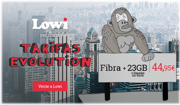 LOWI tarifa evolution fibra +movil