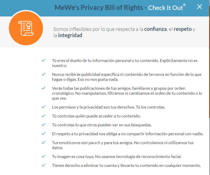 Privacidad MeWe-Una Perla en la Red