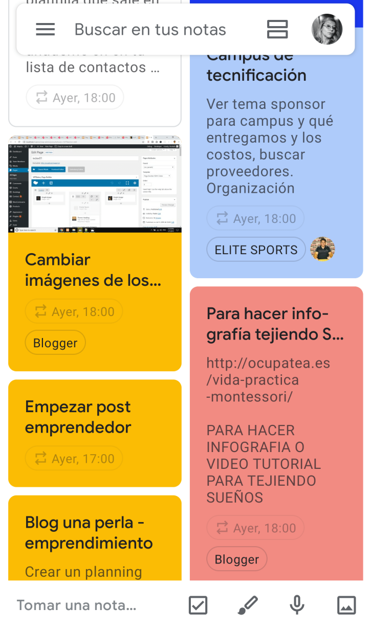 google keep escritorio móvil
