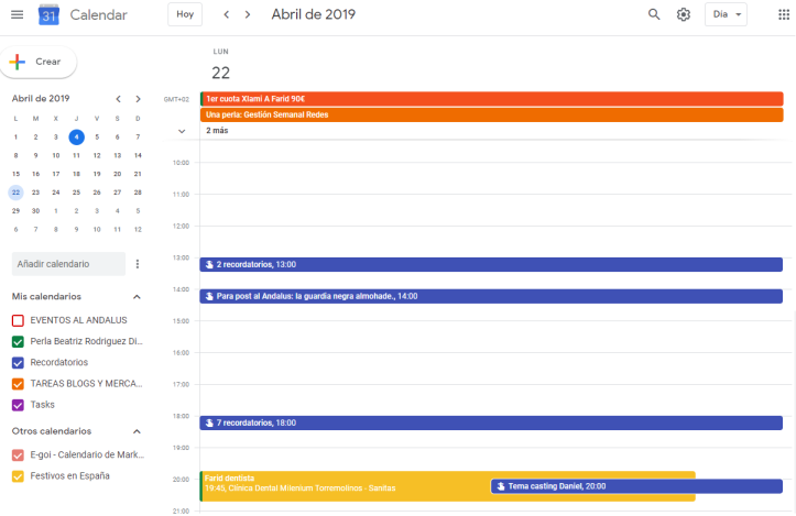 Sincronización Google Calendar y Google Keep