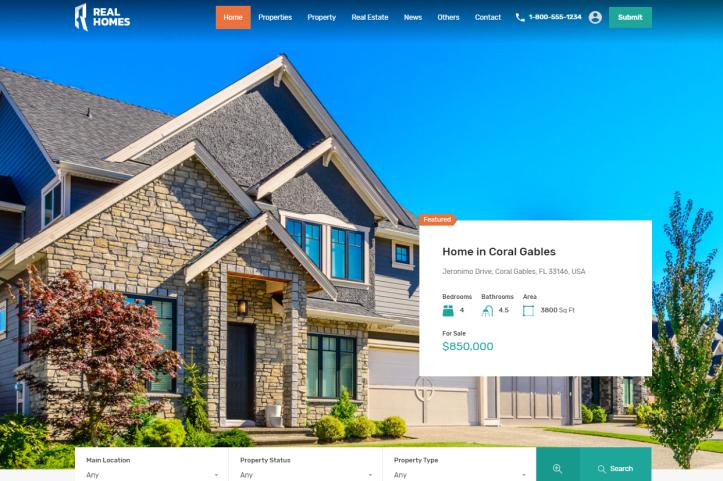 Plantilla WordPress para inmobiliarias