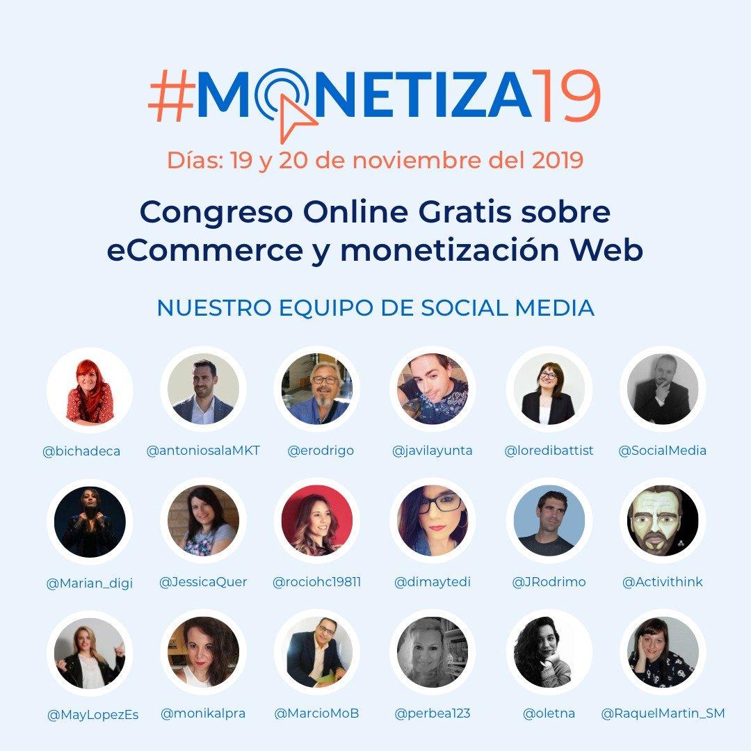 equipo social media Congreso Online #monetiza19