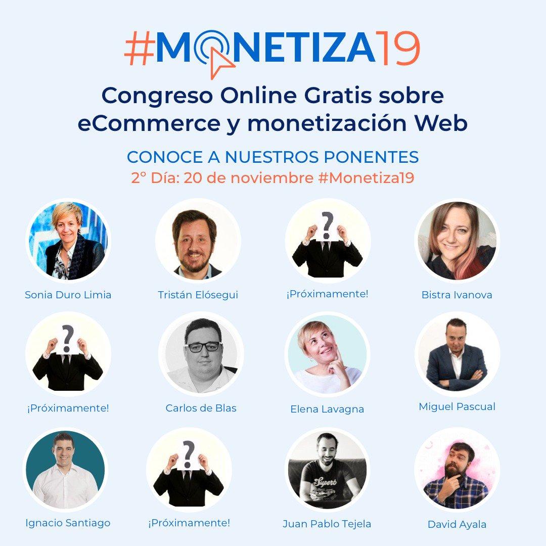 Ponentes Congreso #Monetiza19 día 2