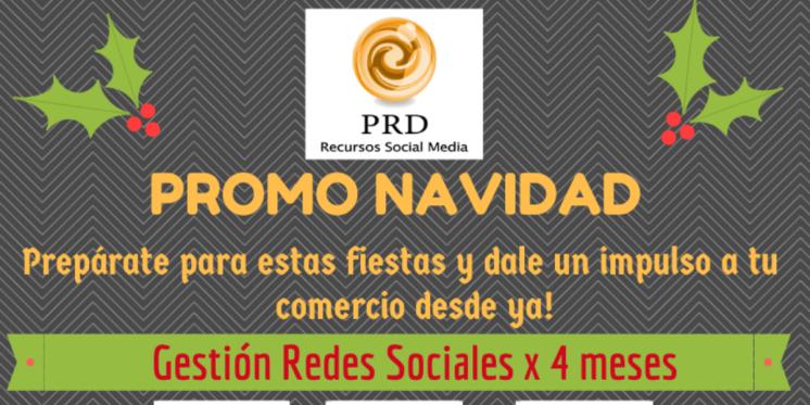 promoción navidad gestión redes sociales