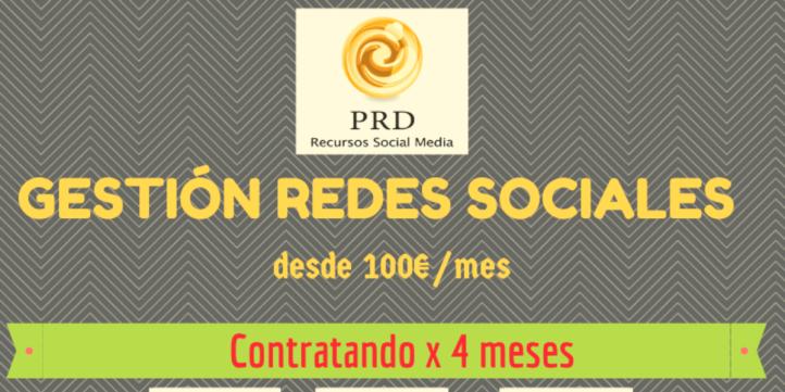 gestión redes sociales 100€ por mes-Málaga