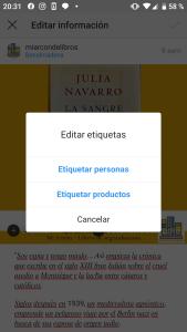 Etiquetar productos en Instagram para vender online